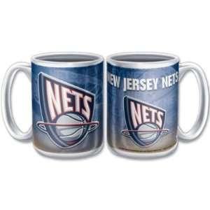 NEW JERSEY NETS 15OZ CERAMIC COFFEE MUG Sports & Outdoors