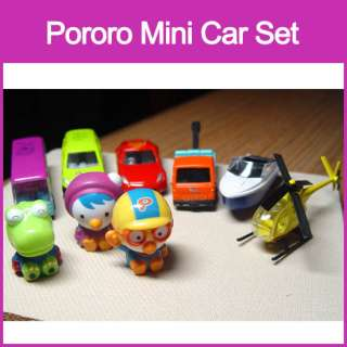 Pororo Die cast Metal mini Car racker bus yacht chopper