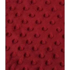 Red Minky Dot Fabric: Arts, Crafts & Sewing