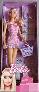 Barbie Shopper Doll Shopping Basket/Accessories Mattel 2010 (V8908