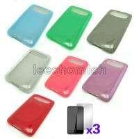 tpu silicone gel case cover film f htc hd7 mozart