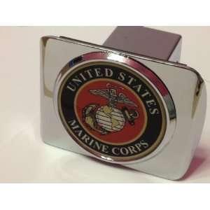 United States US Marine Corps USMC Marine Seal on Chrome Hitch (fits 2