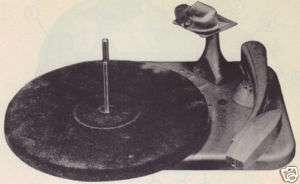 1948 MOTOROLA RC 30 RECORD PLAYER PHONO SERVICE MANUAL