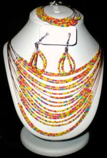 PC Multi Color Bead Necklace Bracelet Earring * U Pick Color