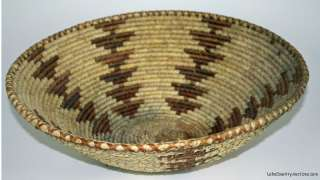 Large Woven Coiled BASKET Native American Indian Art RayLC |