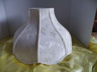 Vintage Victorian Swag Lamp Shade Large Ivory Cloth