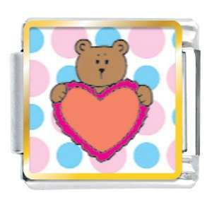 Valentine Teddy Bear Italian Charms Pugster Jewelry