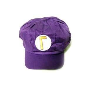 Super Mario Bros Waluig Cotton Elastic Hat (Teen Size