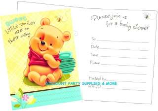 Baby Pooh & Friends Birthday Invitations party supplies