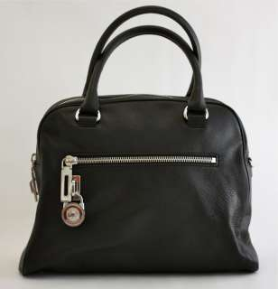 KORS Black Leather KNOX Padlock Medium JOAN Satchel BAG $328