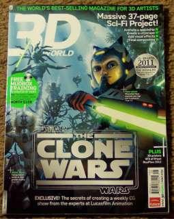 3D WORLD + DVD November 2011 STAR WARS The CLONE WARS Mudbox 37 Page