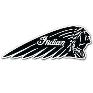 Indian Head Motorcycle Biker Racing Car Bumper Sticker
