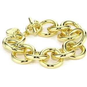 1AR by UnoAerre 18k Gold Plated Circle Link Bracelet Jewelry
