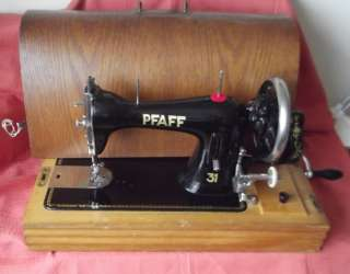 SUPERB 1925 Pfaff Model 31 Hand Crank Dome Top Sewing Machine