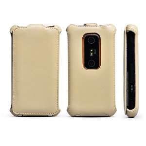 Rock European Leather Flip Cover Case HTC EVO 3D    Khaki