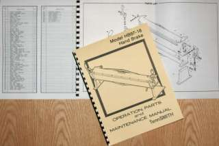 TennSMITH HB97 18 Hand Brake Operator Part Manual
