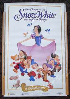 Walt Disney Snow White & 7 Dwarfs 50th Anniversary Movie Poster Rolled