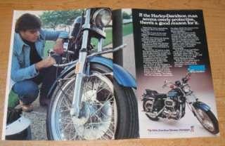 1976 Harley Davidson Sportster XLCH Original Ad