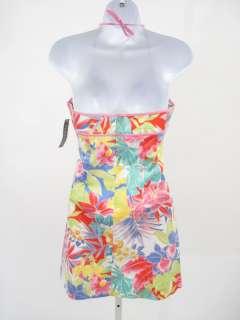 NWT RALPH LAUREN Pink Floral Print Halter Dress 16