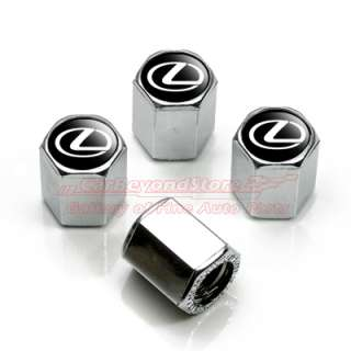 Lexus Logo Chrome 4 Tire Stem Valve Caps for IS250, GS350, RX350