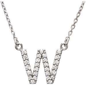 Alphabet Initial Letter Necklace (GH Color, I1 Clarity, 1/6 Cttw