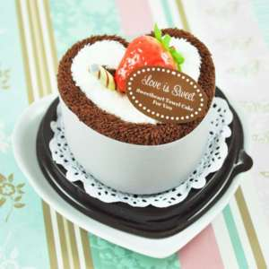 120 Love is Sweet Towel Cake Wedding Bridal Favor