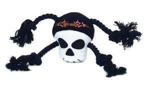 Harley Davidson Plush Skull Rope Tug Dog Toy