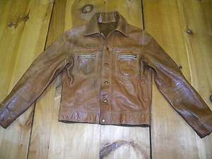 1970s Mens Reversible Suede/Leather Jacket Made in USA Used