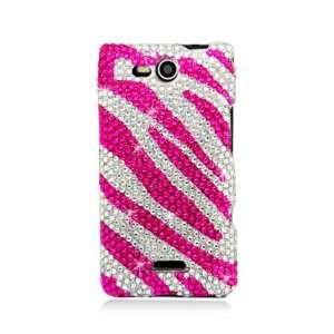 Full Diamond Graphic Case for LG VS840 Lucid 4G   Hot Pink
