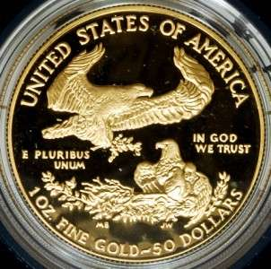 1989 4pcs American Eagle Gold Bullion Proof Coin Set w/Case & COA