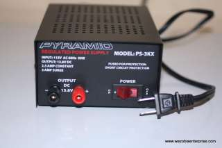 PYRAMID REGULATED POWER SUPPLY PS 3KX PS3KX 13.8V