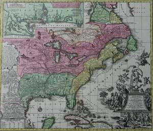 SPLENDID LARGE MAP OF NORTH AMERICA WITH LOUISIANA FLORIDA CANADA
