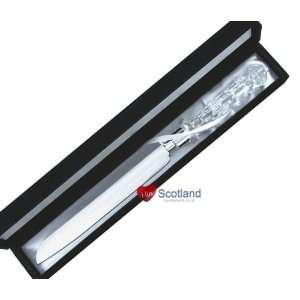 Cake Knife Silver Plated Crystal Glass Design Handle