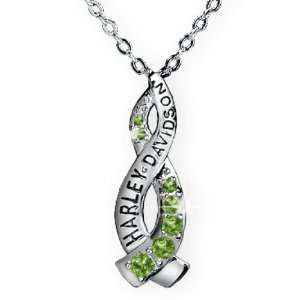 Harley Davidson Ladies Crossroads Necklace   August Peridot Jewelry
