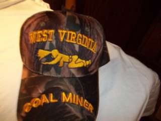 CAP WV COAL MINER CRAWLING CAMO COAL MINING HAT NEW REALLY NICE