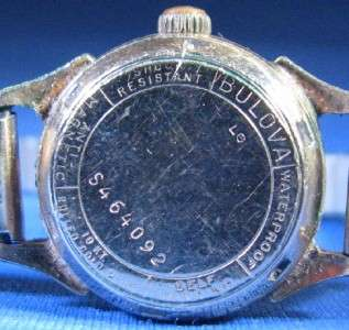 Vintage Bulova Self Winding 10k Gold Filled Ladies Wrist Watch G