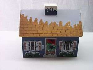 CHRISTMAS VILLAGE COLLECTION WINTER WOOD HOUSE MORSAN