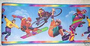 SPORTS SKATEBOARDING BICYCLING WALL PAPER WALL BORDER