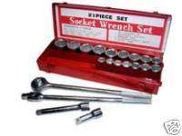 21pc. 3/4 DRIVE DR RATCHET SOCKET SET TOOL SAE WRENCH
