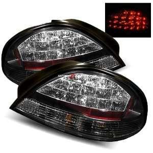 99 05 Pontiac Grand AM LED Tail Lights   Black Automotive