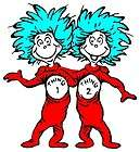 LARGE DR SEUSS THING 1 & 2 WALL STICKER BORDER CHARACTER CUT OUT
