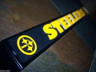 Pittsburgh Steelers Black Chrome License Plate Frame