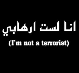 IM NOT A TERRORIST FUNNY T SHIRT offensive humorous tee for muslim