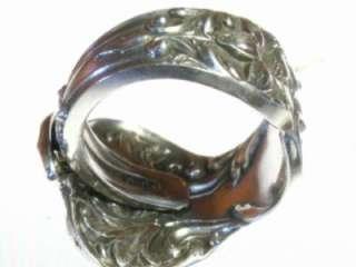 Watson BRIDAL FLOWER Sterling Silver Spoon Ring Sz 8 11