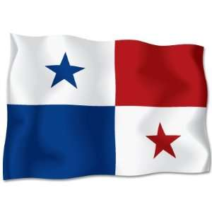 PANAMA Flag car bumper sticker decal 6 x 4