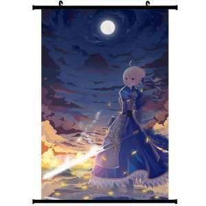 Fate Zero Fate Stay Night Extra Anime Wall Scroll Poster Saber(32*47