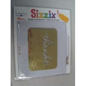 Sizzix thanks in Small Cursive Letters Dies in the Package