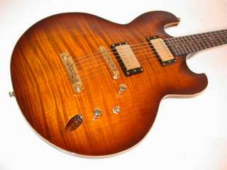 DBZ Imperial Flame Maple Electric Guitar, Tobacco Burst