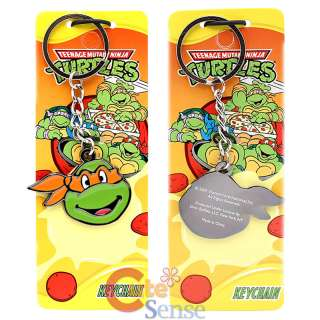 Teenage Mutant Ninja Turtles Face Key Chain  Metal Orange Mask Ninja