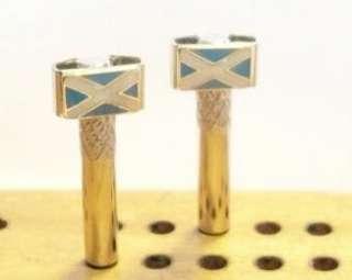 Cribbage Board Pegs 2 Flags of Scotland Enamel Brass.